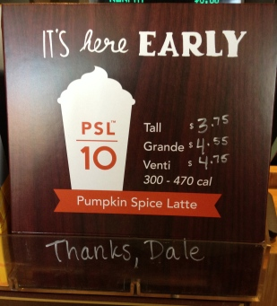 The first pumpkin spice latte came in August this year.